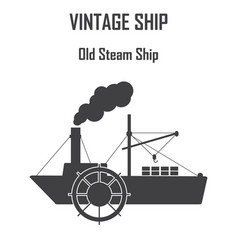 Steam boat ship icon vector