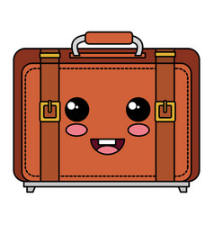 Suitcase travel isolated icon vector