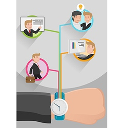 Time Management Business Workflow vector image vector image