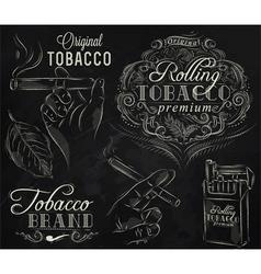 Tobacco chalk vector image vector image