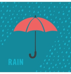 Umbrella and rain background vector image vector image