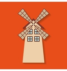 Windmill farm fresh icon vector