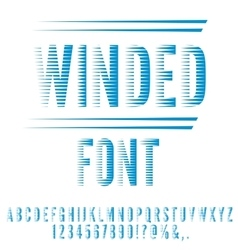 Winded stylized font vector