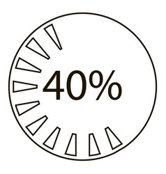 Forty percents infographics outline style vector