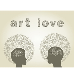Art love vector