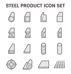 Steel product icon vector