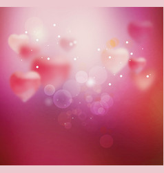 Blurred heart sparkling vector
