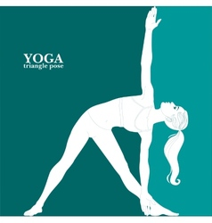 Yoga triangle pose vector