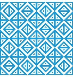Geometric abstract blue white pattern seamless vector