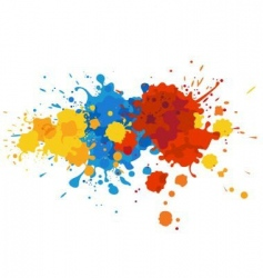 Paint stains vector