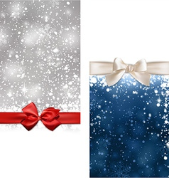 Christmas abstract banners vector