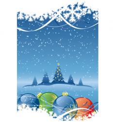 winter decorative card vector image