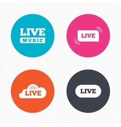 Live music icons karaoke or on air stream vector