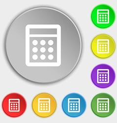 Calculator sign icon bookkeeping symbol symbols on vector
