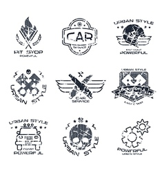 Car service badges and logo vector