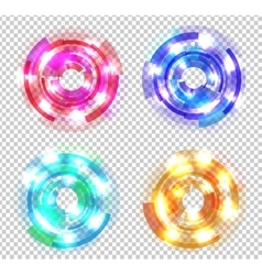 Set of abstract colored circles vector