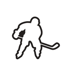Stylish black and white icon canadian hockey vector