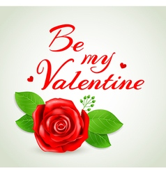 Romantic background with red rose vector
