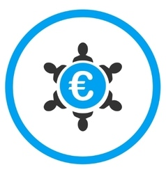 Euro collaboration rounded icon vector