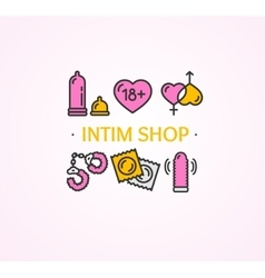Intim or sex shop concept vector