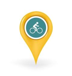 Biking Location vector image