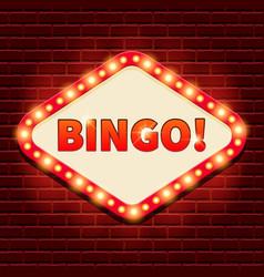 Bingo casino lotto billboard background vector