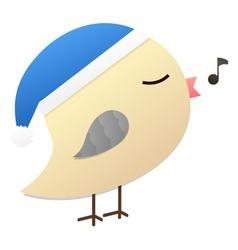 Birdy blue hat vector