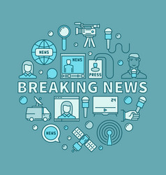 Breaking news concept vector