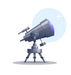 Cartoon telescope vector