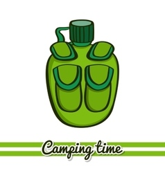 Flask camping equipment vector