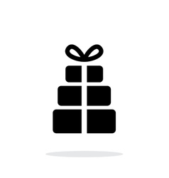 Gift boxes icons on white background vector image vector image