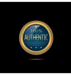 Golden Authentic label vector image vector image