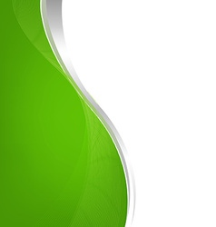 Green Background With Line vector image