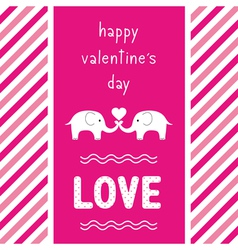 Happy valentine s day card2 vector image vector image