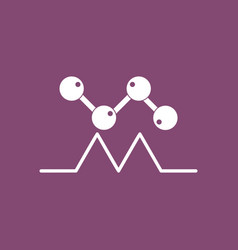 Icon molecules and cardiogram vector