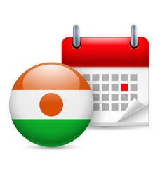 Icon of national day in niger vector image vector image