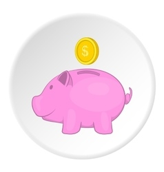 Money box icon flat style vector image vector image