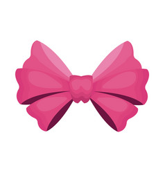 pink bow icon vector image vector image