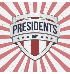 Presidents day big patriotic shield sign vector