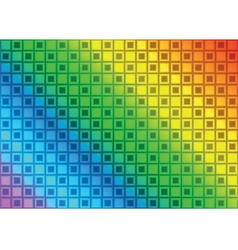 Rainbow rectangle abstract background vector