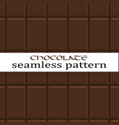 Seamless chocolate pattern vector