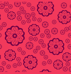seamless pattern round shapes on pink background vector image vector image
