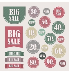 Set of sale labels and banners vector image