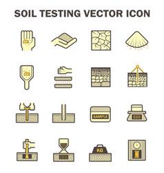 Soil test icon vector