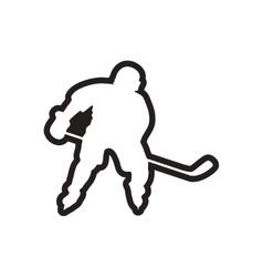 Stylish black and white icon canadian hockey vector