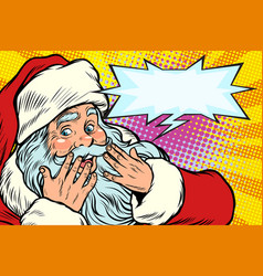 surprised reaction santa claus christmas vector image