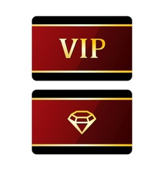 Vip cards with diamond vector image