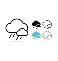 Web cloud icon Web Idea Creative and Weather vector image vector image