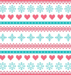 Winter Christmas seamless pixelated pattern vector image