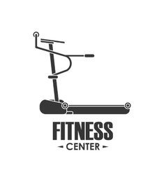 Running machine icon fitness design vector